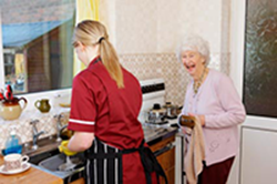 Nurse doing dishes