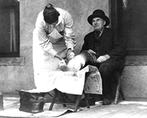 Nurse treating patient pic - historical