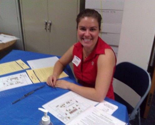 all smiles at the health fair