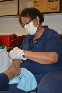 Wanda Wofford, RN at the Glenarm Foot Care Clinic